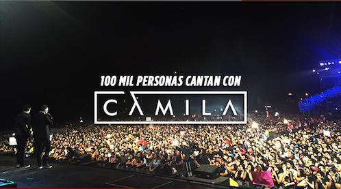 100 mil personas cantan con CAMILA