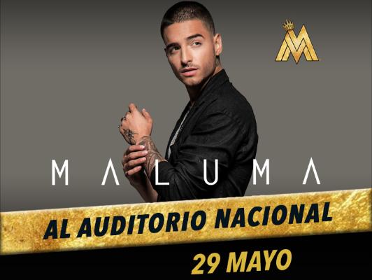 MALUMA  al Auditorio Nacional