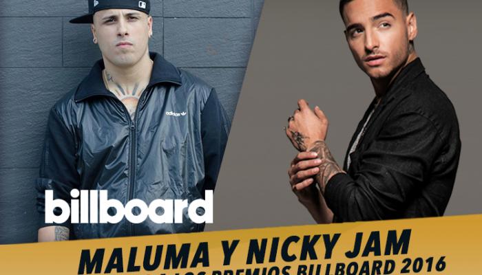 Maluma y Nicky Jam nominados a los premios Billboard 2016