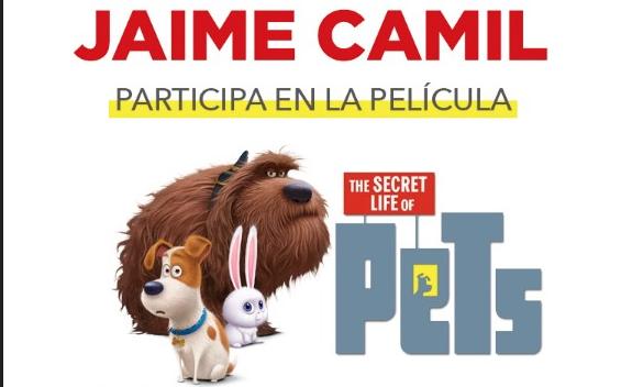 """Jaime Camil  Participa en la película """"Pets"""""""