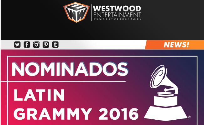 Nominados  LATIN GRAMMY 2016