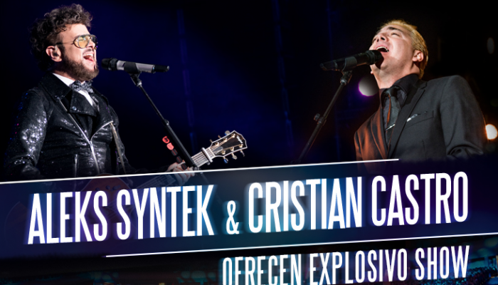 ALEKS SYNTEK & CRISTIAN CASTRO  ofrecen explosivo show