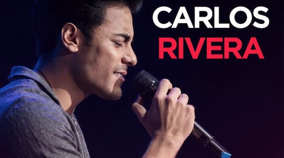 CARLOS RIVERA EN CONCIERTO EL 02 DE SEPTIEMBRE EN MADRID