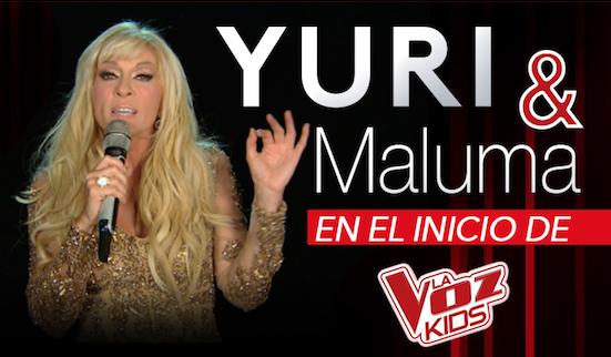 """YURI y MALUMA  En el inicio de """"La Voz Kids"""""""