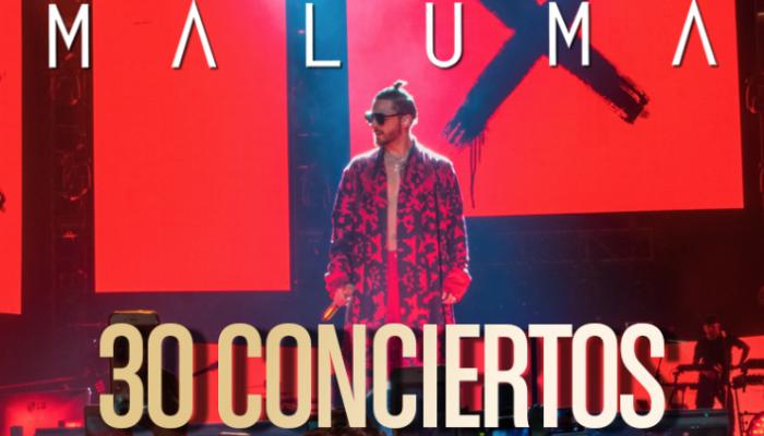 MALUMA  30 conciertos  SOLD OUT  En México