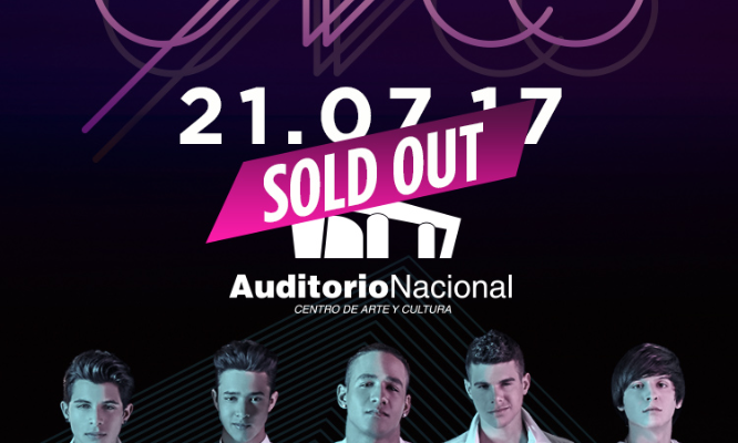 CNCO  SOLD OUT  21 JULIO  AUDITORIO NACIONAL