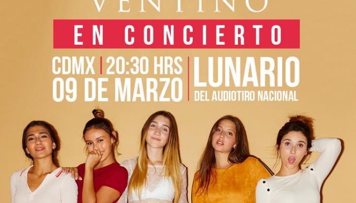Ventino en concierto 09 de marzo Lunario del Auditorio Nacional
