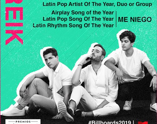Reik con 4 nominaciones a Billboard Latin Music Awards
