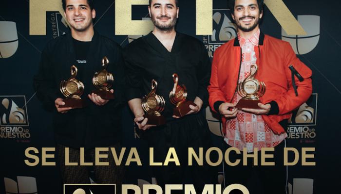 Reik se lleva la noche de Premio Lo Nuestro con 5 galardones