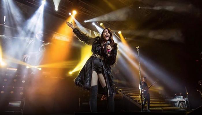 Natalia Jiménez se presentó en el Luna Park en Buenos Aires Argentina