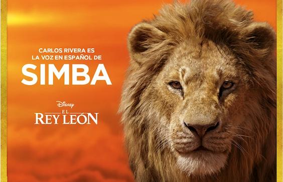 Carlos Rivera vuelve a dar vida a Simba