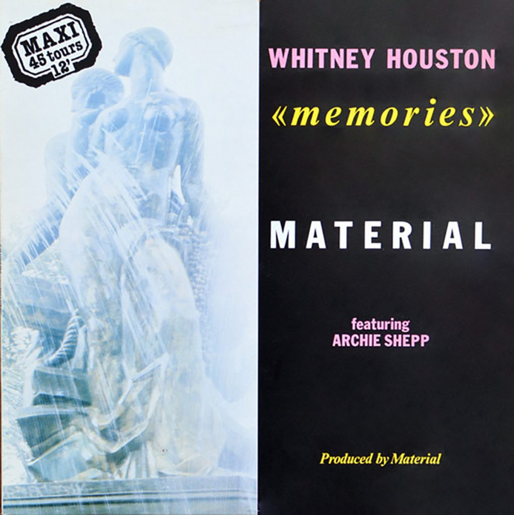 Whitney Houston - Memories France 12-inch single front cover