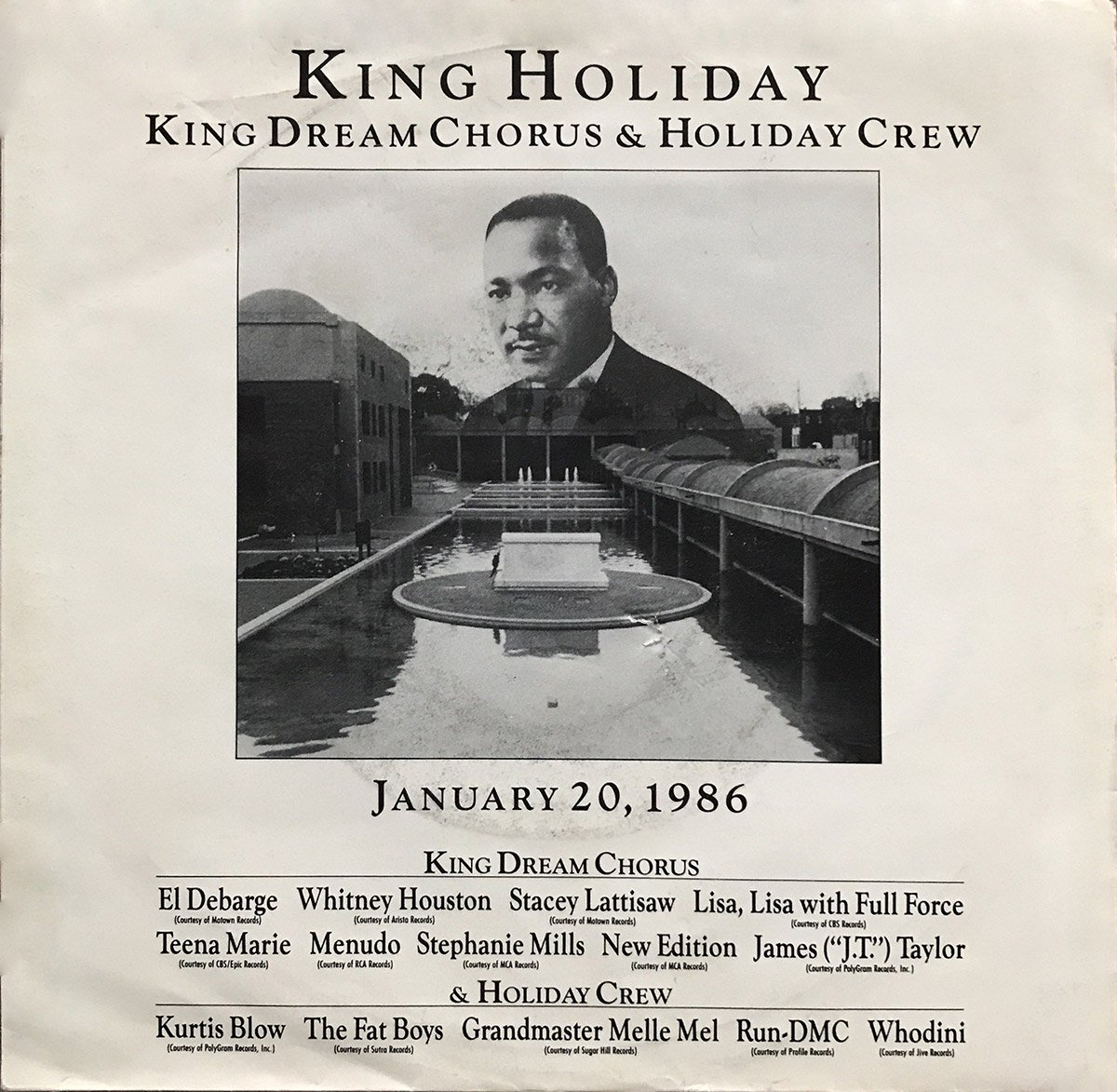 King Dream Chorus & Holiday Crew - King Holiday U.S. 7-inch vinyl single front cover
