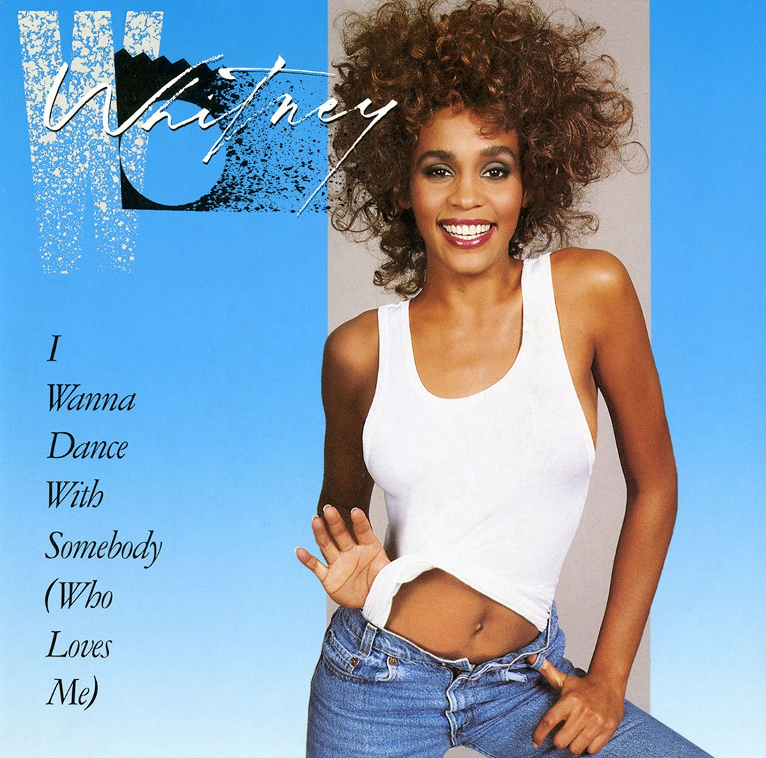 Whitney Houston - I Wanna Dance With Somebody (Who Loves Me) U.S. 7-inch vinyl single front cover
