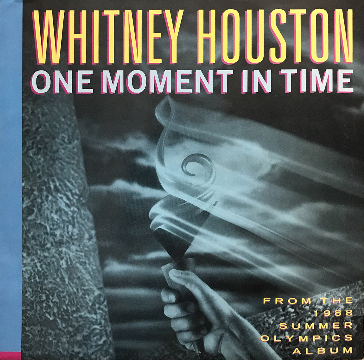 Whitney Houston - One Moment In Time U.S. 7-inch vinyl single front cover
