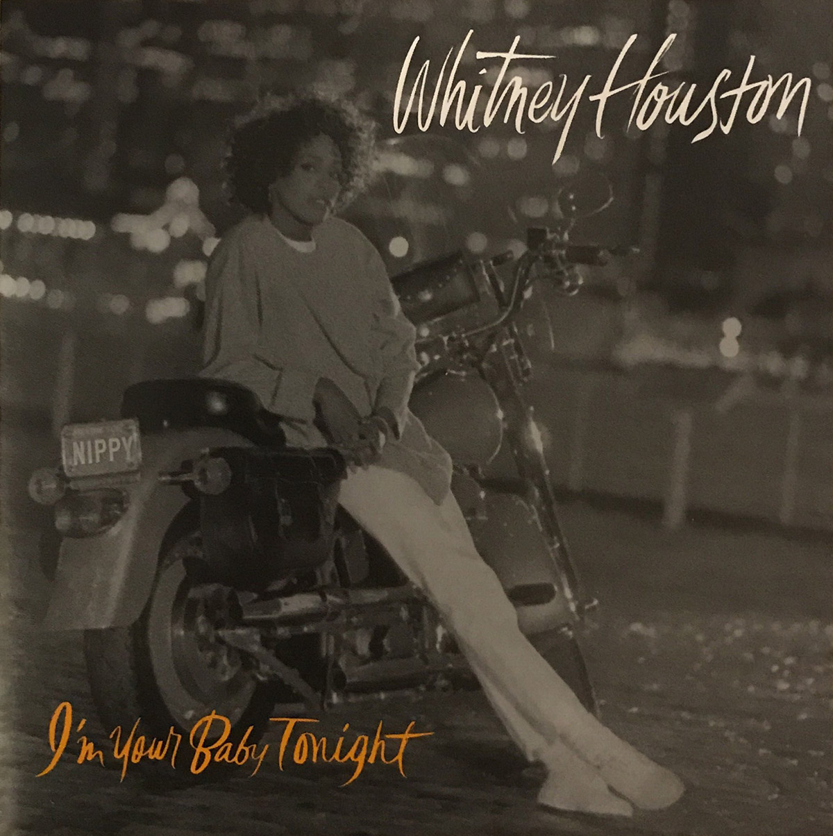 Whitney Houston - I'm Your Baby Tonight single front cover