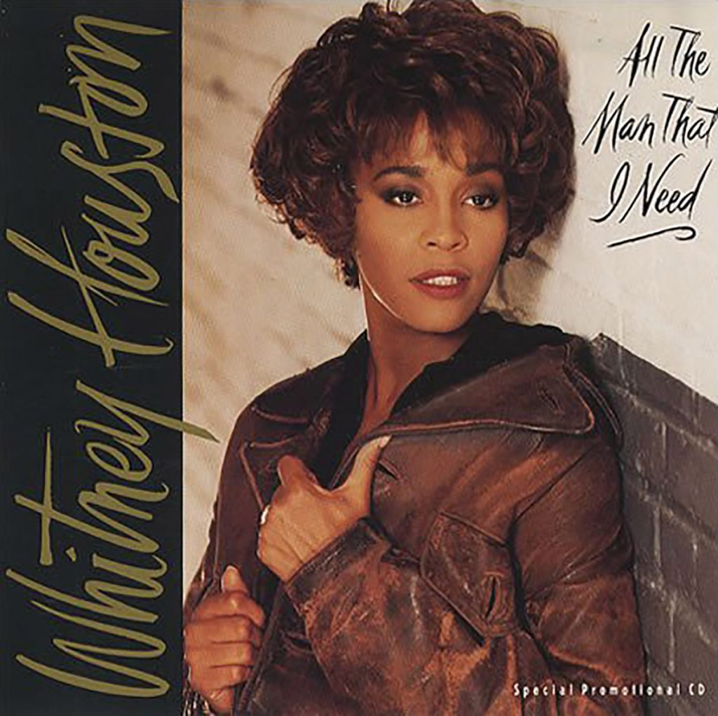 Whitney Houston - All The Man That I Need U.S. promo CD front cover