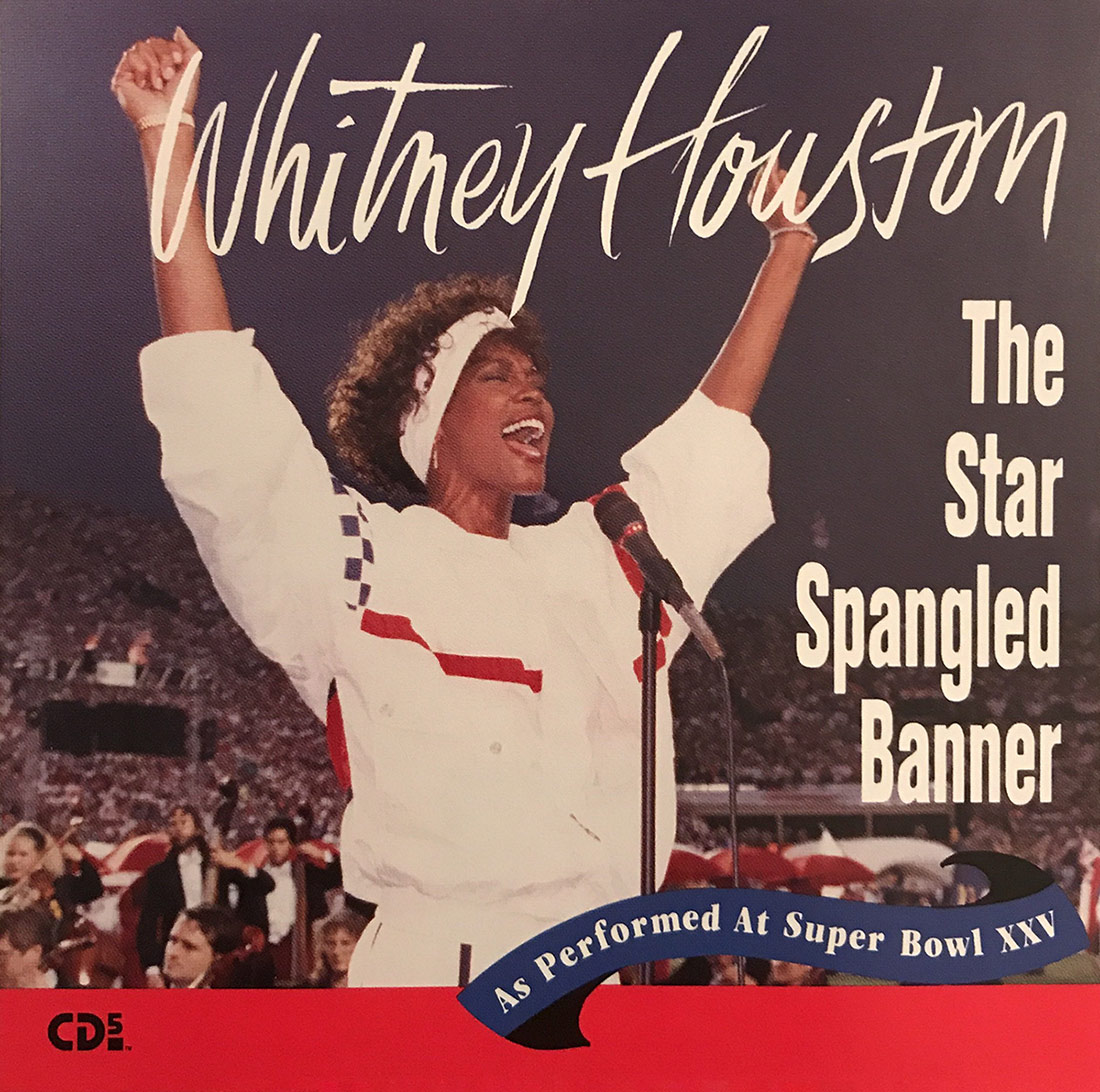 Whitney Houston - The Star Spangled Banner 1991 CD single front cover