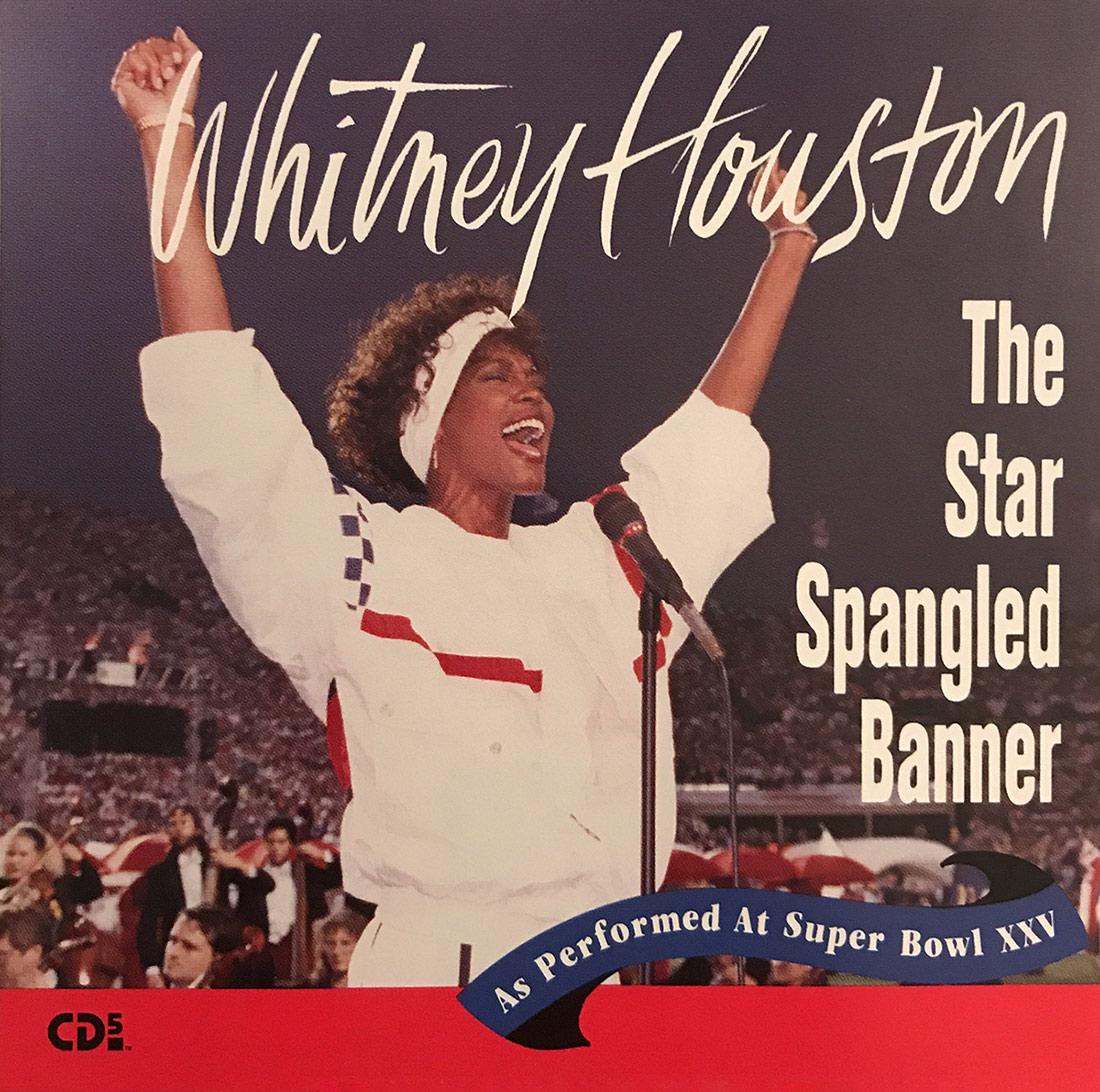 Whitney Houston - The Star Spangled Banner 1991 CD single front cover