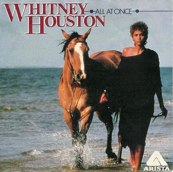 Whitney Houston - All At Once European 7-inch vinyl single front cover
