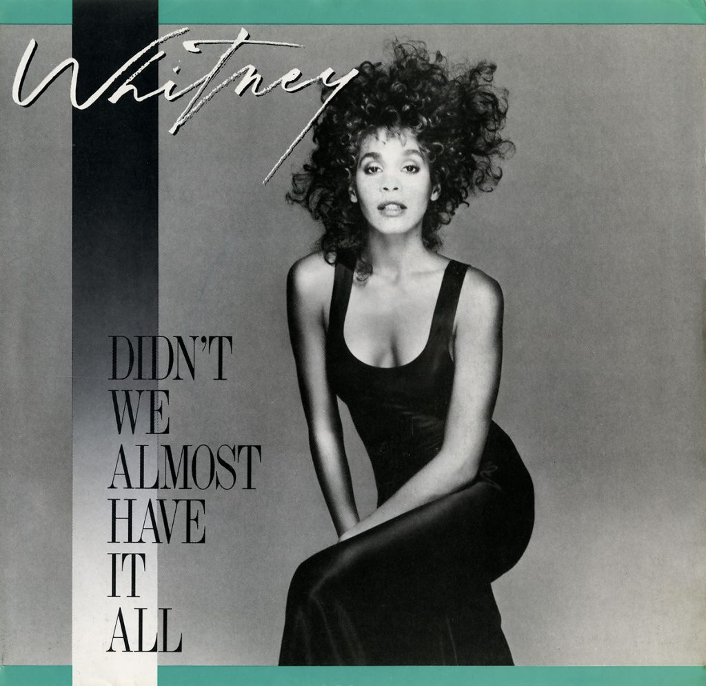 Whitney Houston - Didn't We Almost Have It All U.S. 7-inch vinyl single front cover