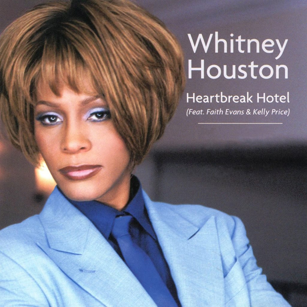 Whitney Houston - Heartbreak Hotel single front cover