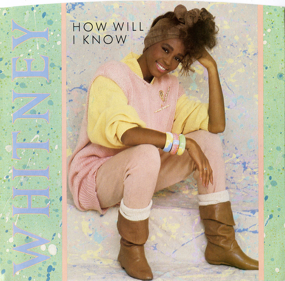 Whitney Houston - How Will I Know U.S. 7-inch vinyl single front cover