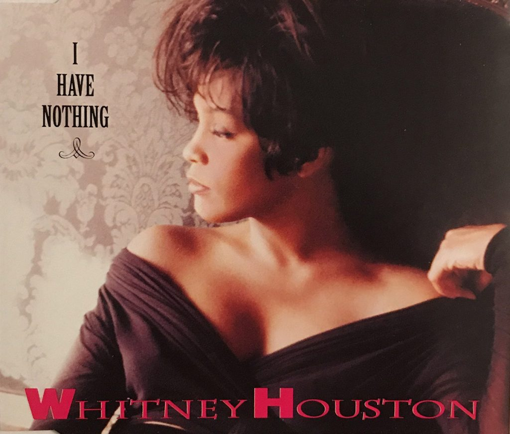 Whitney Houston - I Have Nothing single front cover