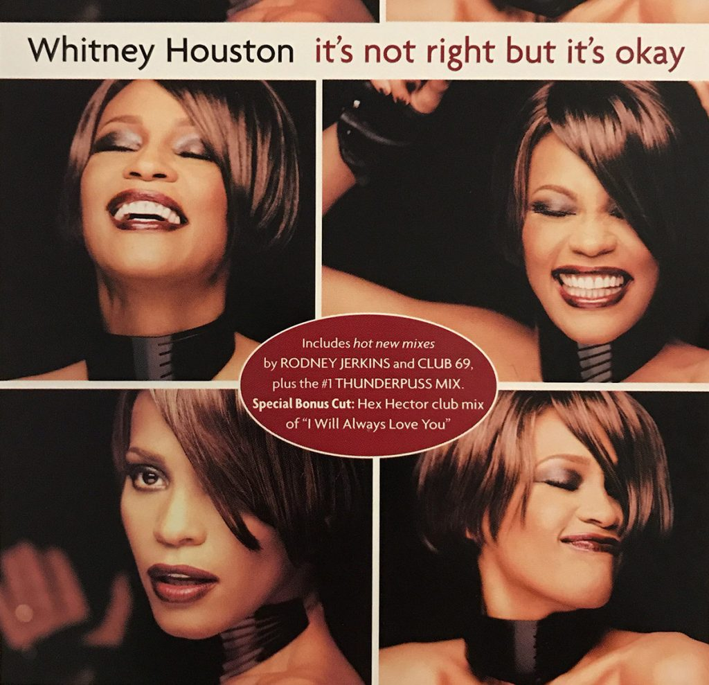 Whitney Houston - It's Not Right But It's Okay single front cover