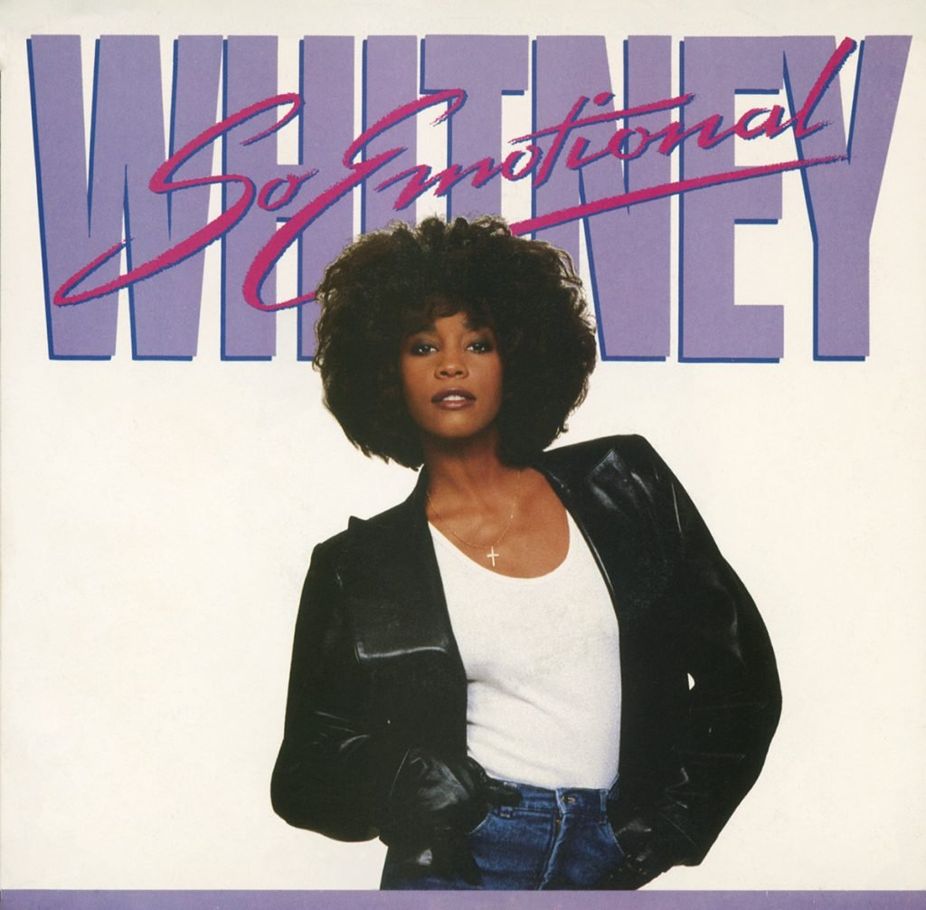 Whitney Houston - So Emotional U.S. 7-inch vinyl single front cover