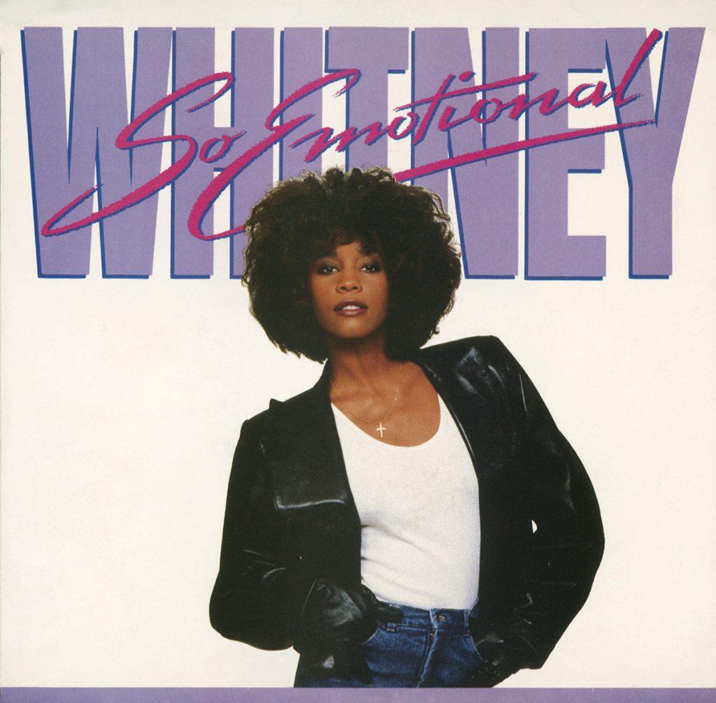 Whitney Houston - So Emotional U.S. 7-inch vinyl single front cover