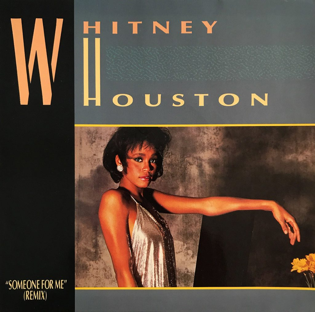 Whitney Houston - Someone For Me UK 7-inch vinyl single front cover
