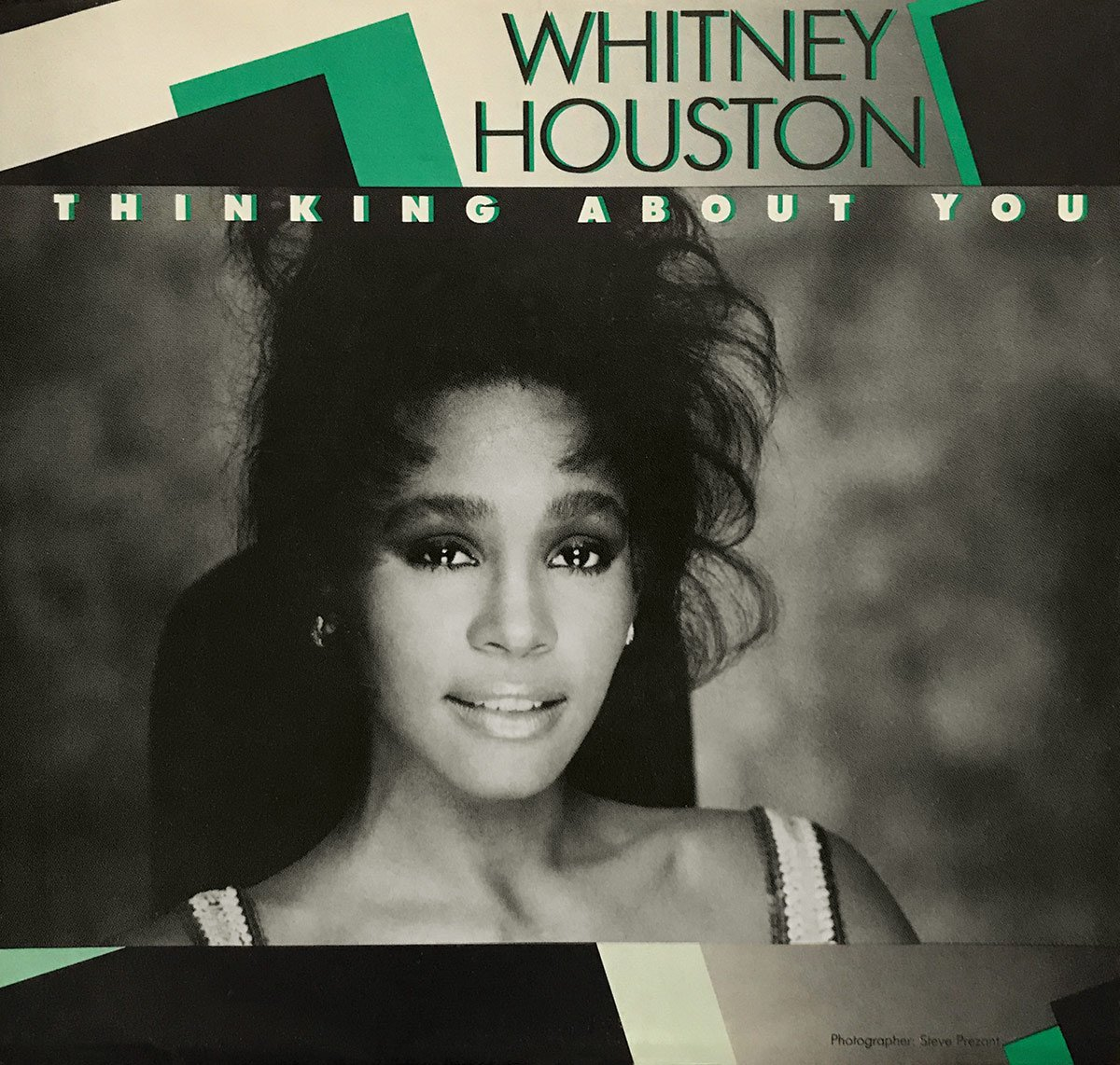 Whitney Houston - Thinking About You U.S. 7-inch vinyl single front cover