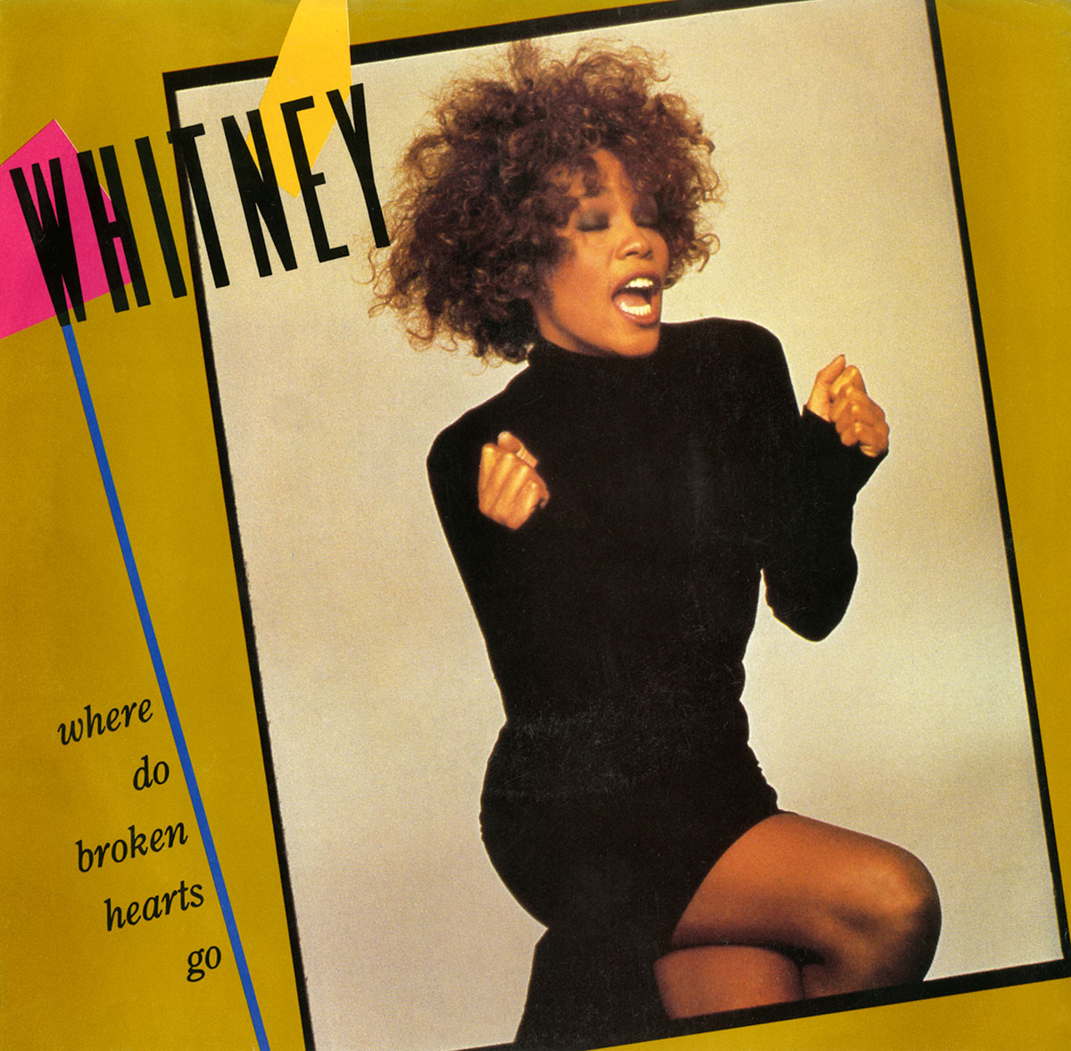Whitney Houston - Where Do Broken Hearts Go U.S. 7-inch vinyl single front cover