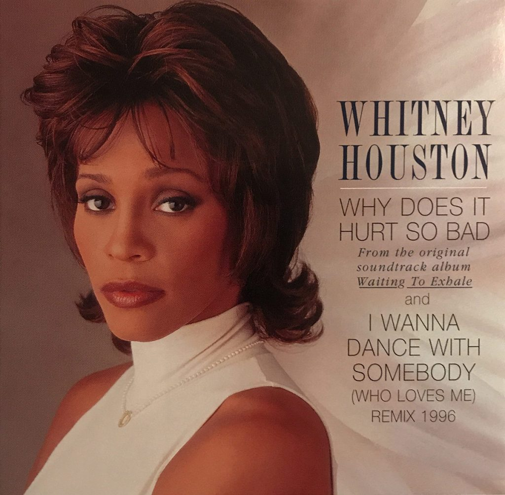 Whitney Houston - Why Does It Hurt So Bad single front cover