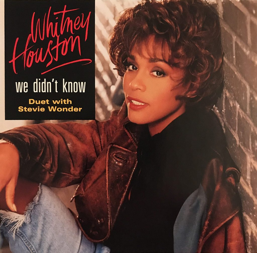 Whitney Houston - We Didn't Know U.S. promo CD front cover