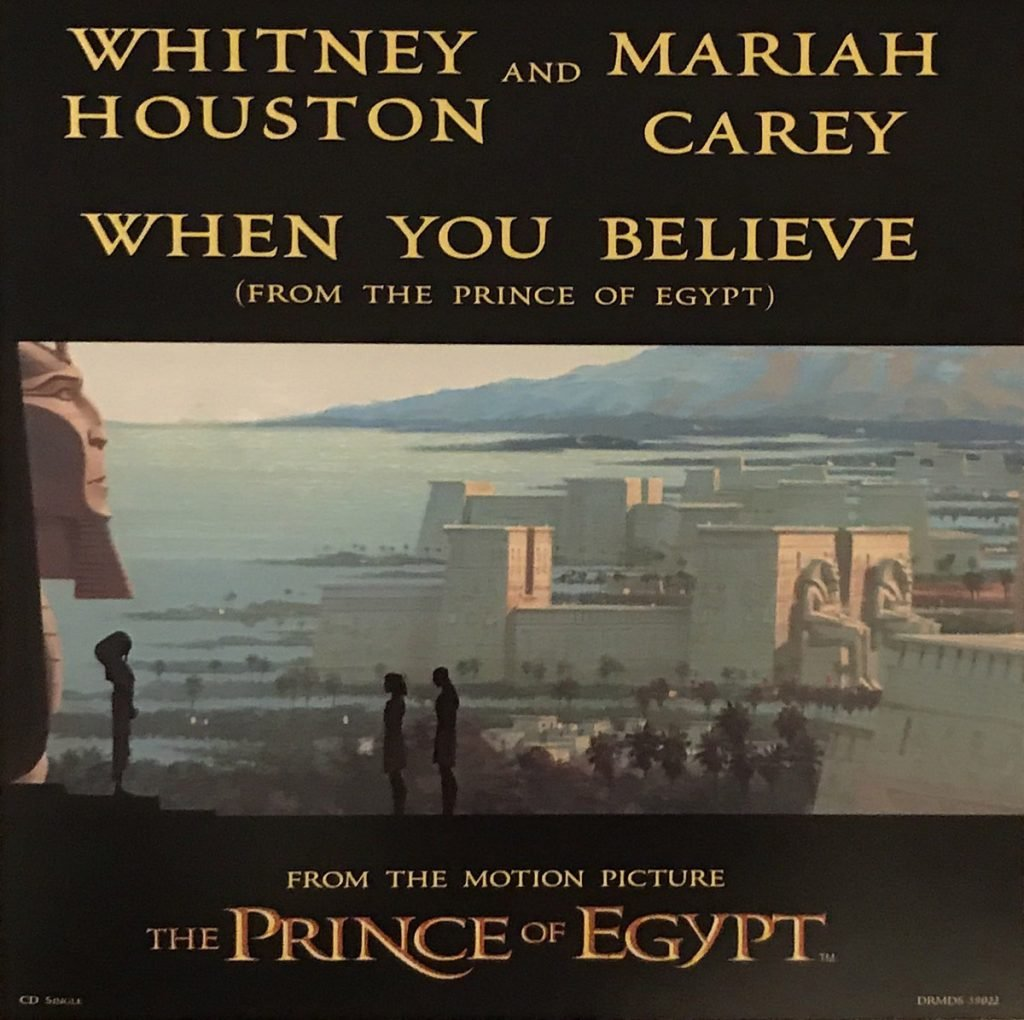 Whitney Houston - When You Believe single front cover