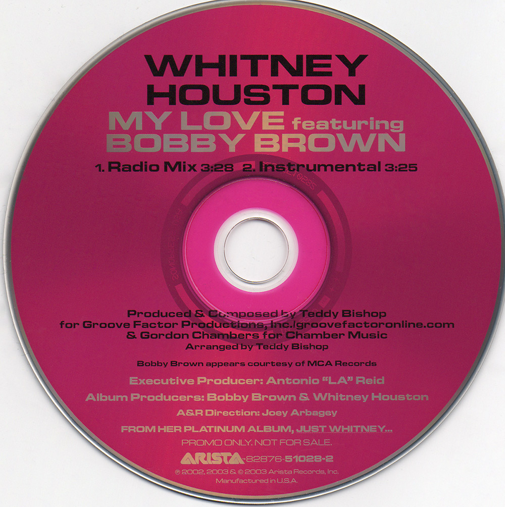 Whitney Houston and Bobby Brown - My Love U.S. promo CD
