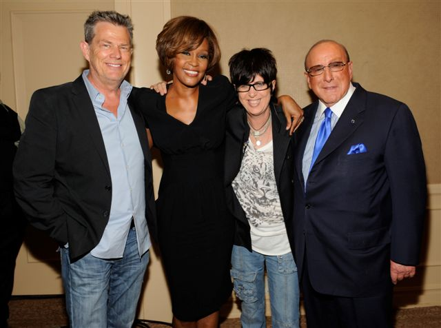 Whitney Houston, David Foster, Diane Warren and Clive Davis at third listening party for album I Look To You in Los Angeles, CA July 23, 2009