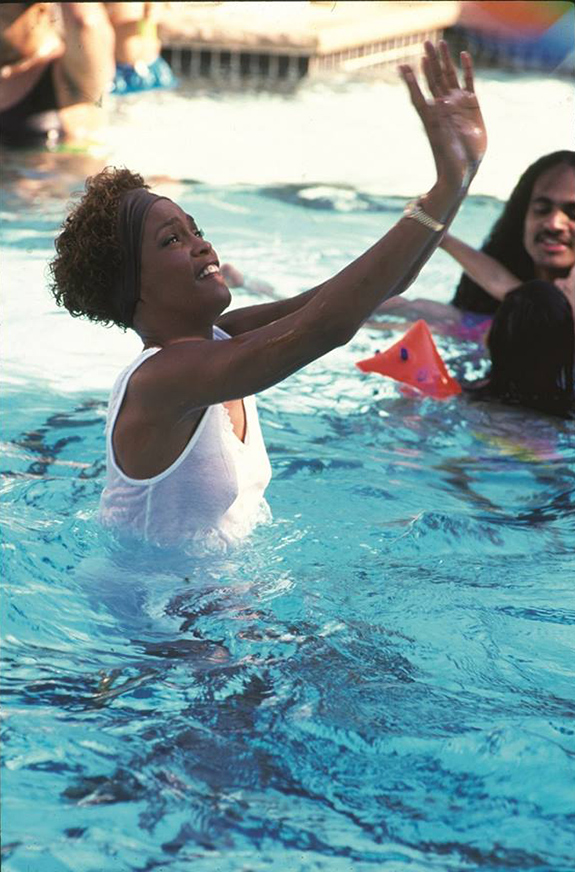 Whitney Houston at pool party