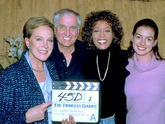 Julie Andrews, Garry Marshall, Whitney Houston and Anne Hathaway
