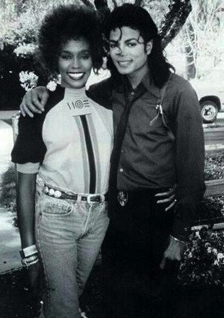 Whitney Houston and Michael Jackson at Neverland 1989