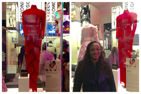 Whitney Houston exhibit at National Museum of African American History and Culture