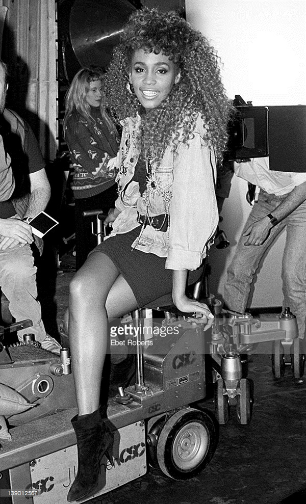 Whitney Houston on the set of the I Wanna Dance With Somebody Who Loves Me video shoot