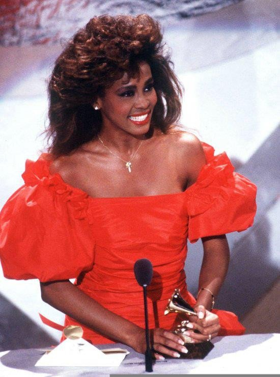 Whitney Houston wins first Grammy Award February 1986