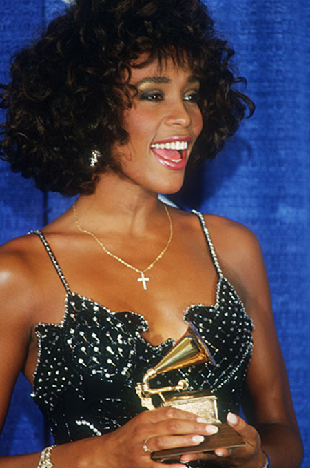 Whitney Houston wins second Grammy Award March 1988