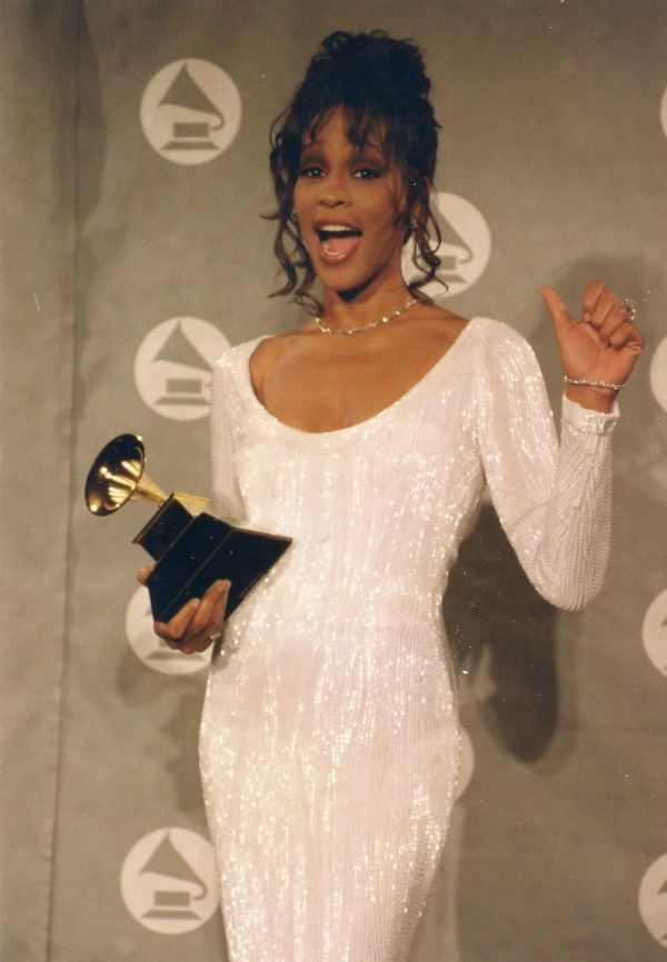 Whitney Houston wins Grammy Award March 1994