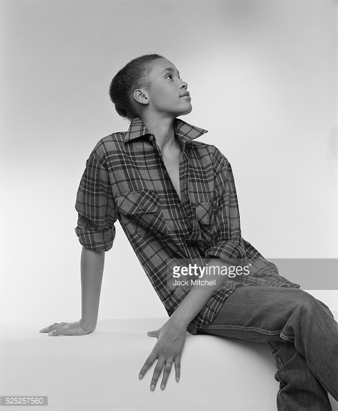 Whitney Houston modeling photo early 1980s