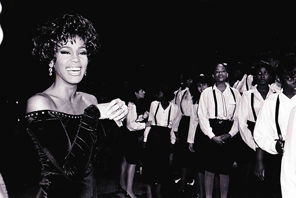 Whitney Houston All The Man That I Need video shoot 1990