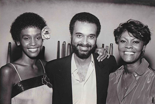 Whitney Houston, Gerry Griffith and Dionne Warwick at Vine Street Club listening party in Los Angeles in 1983